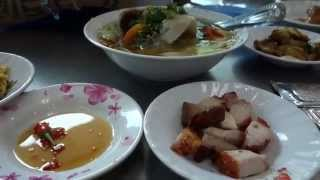 Viet Food in Saigon VN. Family Style Com Trua Lunch. thumbnail