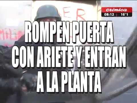 REPRESION EN ARGENTINA : Violento desalojo a trabajadores de Pepsico