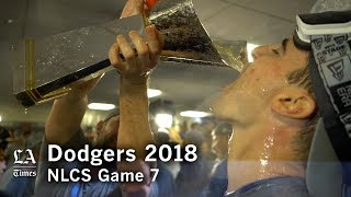 Dodgers NLCS 2018: The Dodgers Celebrate winning the 2018 NLCS