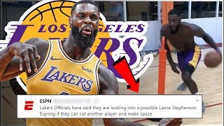 Los Angeles Lakers Late Season Signing Lance Stephenson Cutting Jared Dudley! - Joining LeBron James