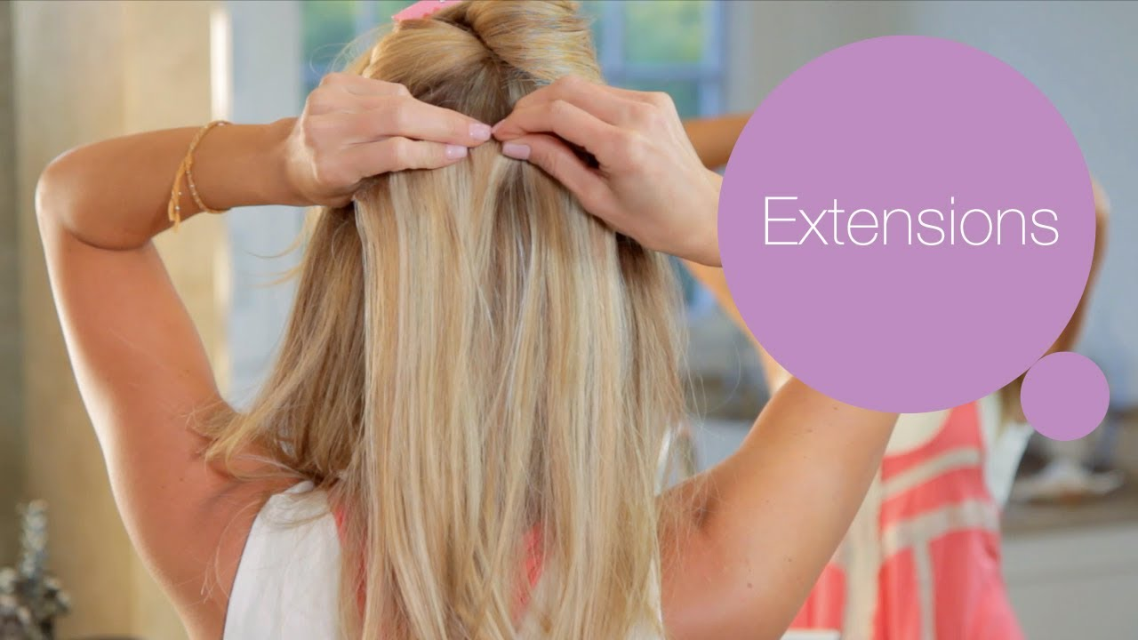 How To Put In Hair Extensions Modernmom Makeover Youtube