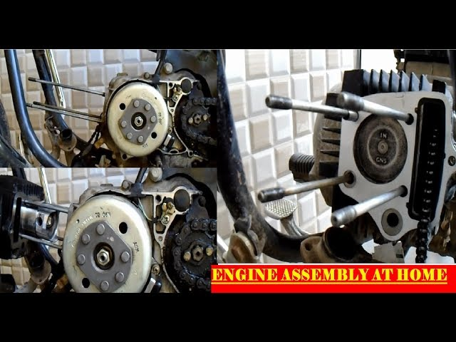 How to assemble motorcycle engine   full engine assembly
