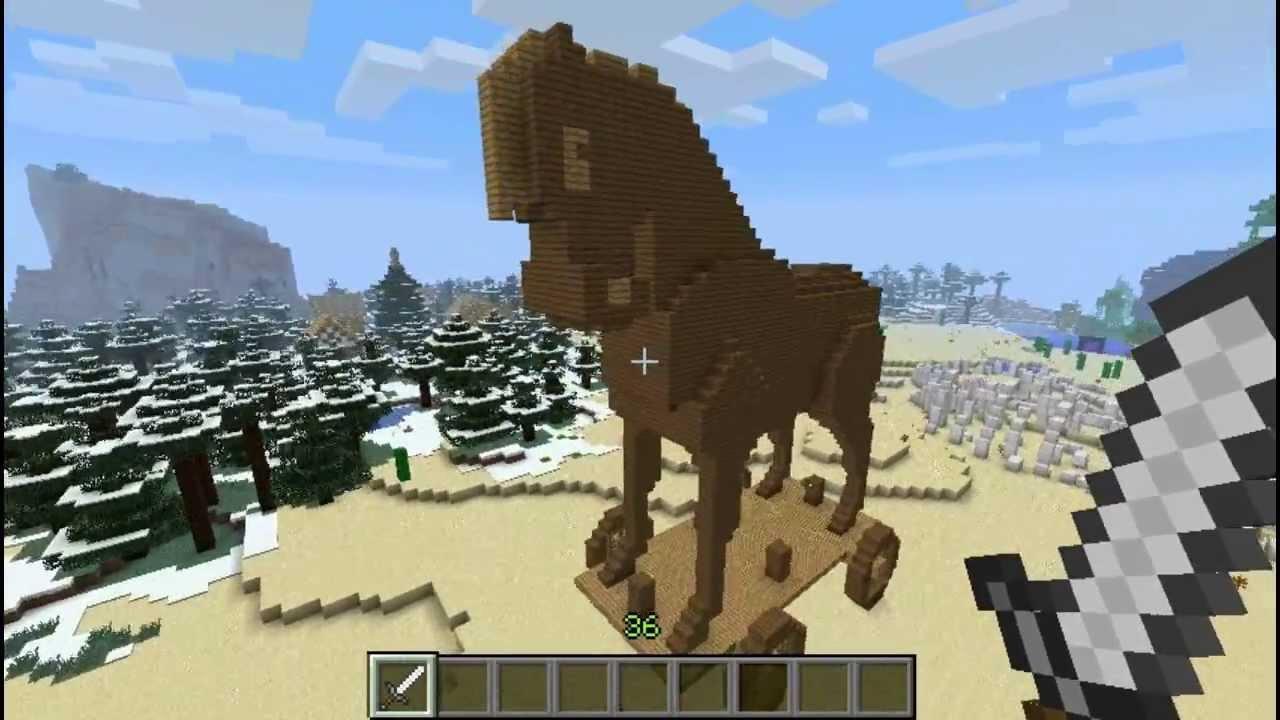 minecraft mundo criativo 2 0 cavalo de troia youtube. Black Bedroom Furniture Sets. Home Design Ideas