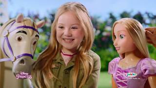 disney princesses raiponce maximus et raiponce 80 cm jakks pacific