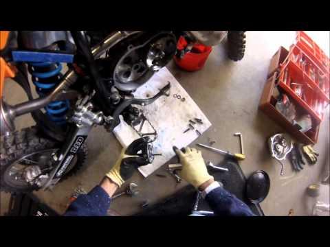 2008 KTM 50sx clutch service