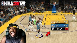 OVERTIME THRILLER! KOBE & SHAQ VERSUS THE WARRIORS! NBA 2K19 PLAY NOW ONLINE GAMEPLAY!