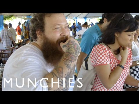 Jamaican Cuisine at the NyamJam with Action Bronson