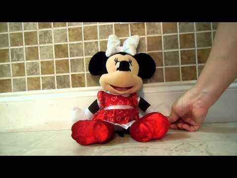 Disney Sweet Kisses Minnie Mouse Talking Light Up Plush Toy Video