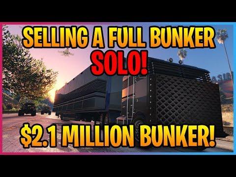 SELLING A FULL $2.1 MILLION BUNKER SOLO IN GTA ONLINE! *2019*