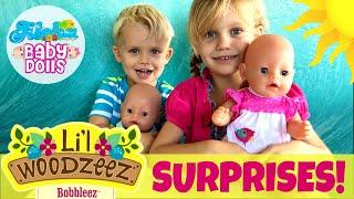 Surprise! Skye &amp Caden Open Lil&#39 Woodzeez Bobbleez! 3 Surprises Inside! Funny Story At The End!