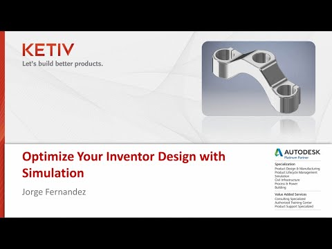 Webcast: Optimize Your Inventor Design with Simulation