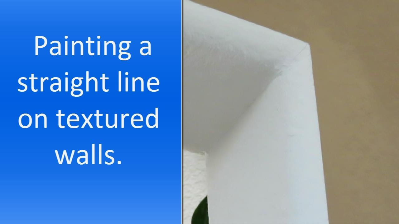 How to paint a straight line on a wall YouTube