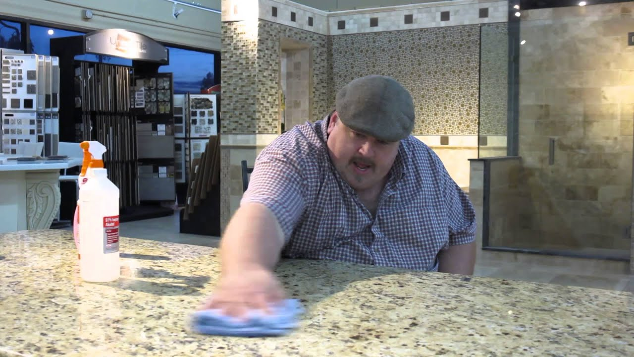 How To Clean Granite Countertops   YouTube