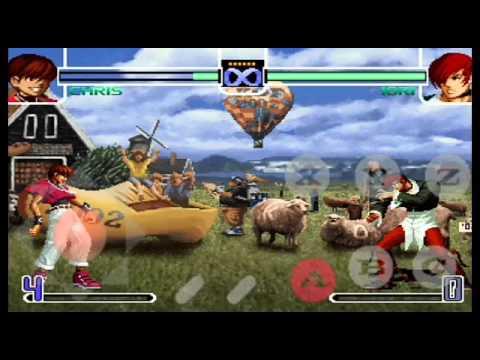 Gameplay de kof 2002 vercion consola con personajes ocultos en android :v