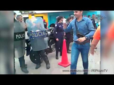 Policía desaloja a la fuerza a jóvenes atados al CNE en Guanare