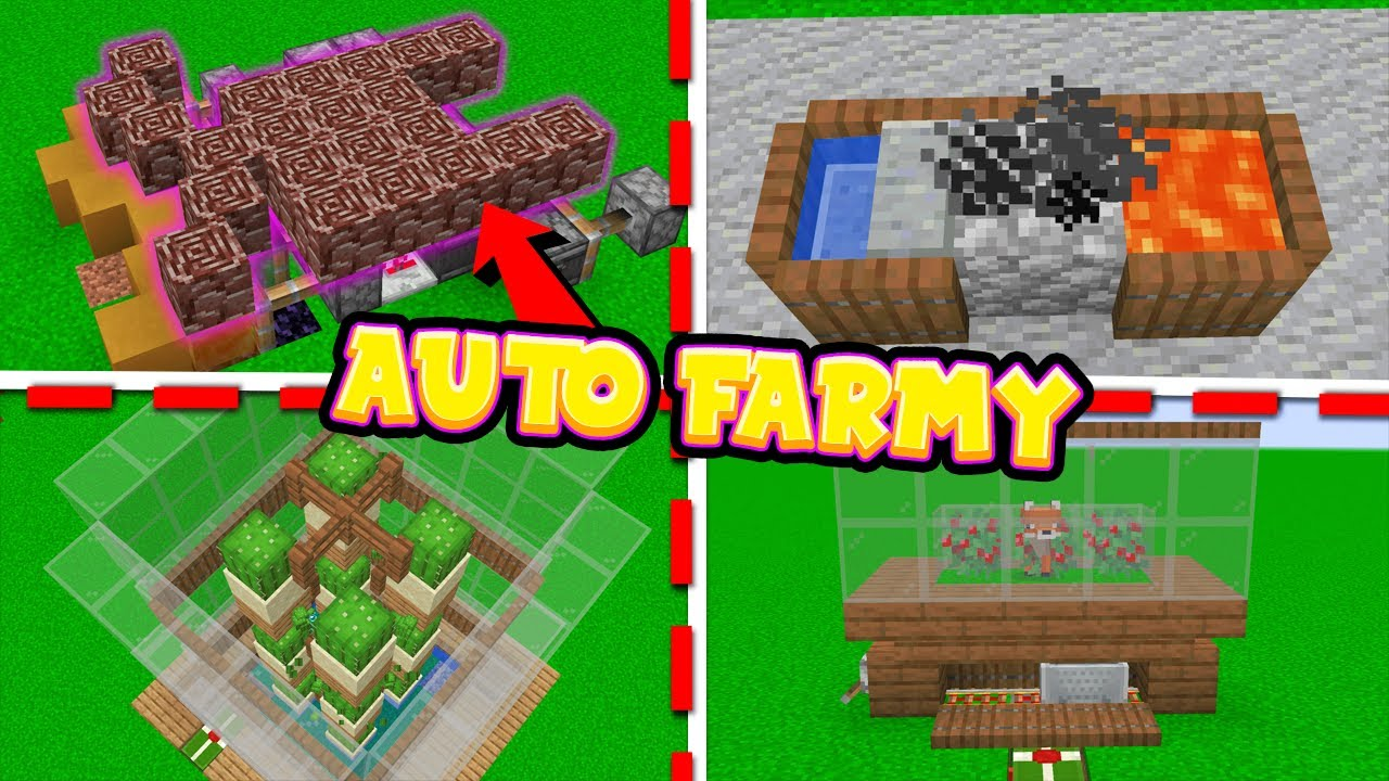 Download MINI AUTO FARMY na START w MINECRAFT! *fake farma NETHERITE*