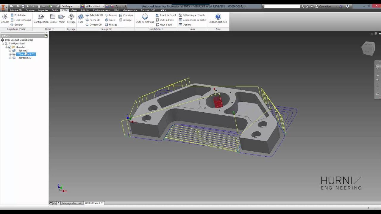 d monstration hsm express 2016 pour autodesk inventor youtube. Black Bedroom Furniture Sets. Home Design Ideas