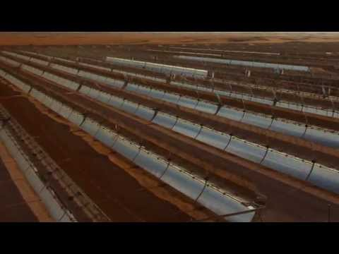Shams-1, the Middle Eastern largest concentrated solar power plant