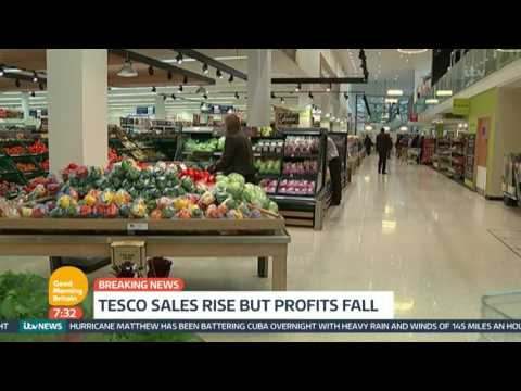 Tesco Sales Rise But Profits Fall | Good Morning Britain