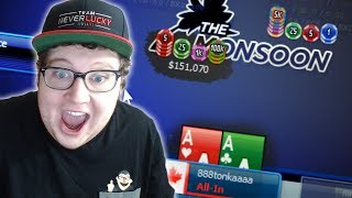 ACES ALL-IN PREFLOP FOR A MASSIVE STACK (tonkaaaap $55 Monsoon FINAL TABLE)