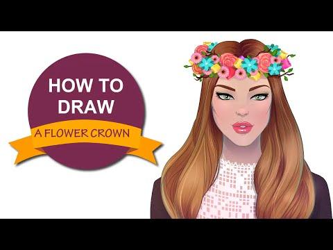 How to draw a flower crown | I Draw Fashion