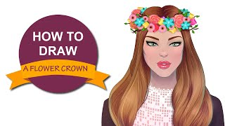 How to draw a flower crown | I Draw Fashion