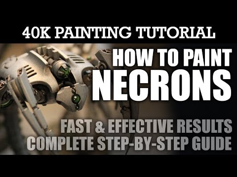 How to Paint NECRONS Painting Tutorial (Use this technique for all Necron units/vehicles) | HD Video