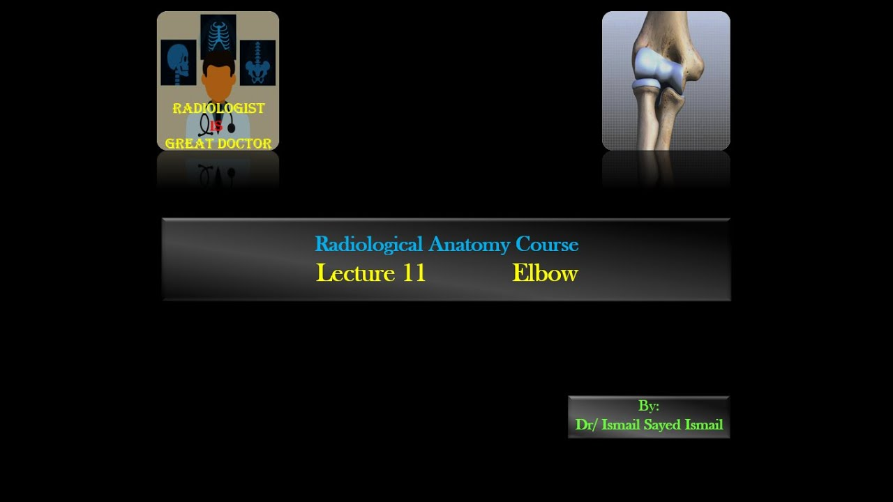 Radiological Anatomy Course -Lecture 11 -Elbow - YouTube