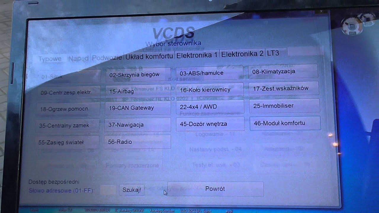 Passat B5 Programowanie Pilota Przy Pomocy Vcdsa Youtube