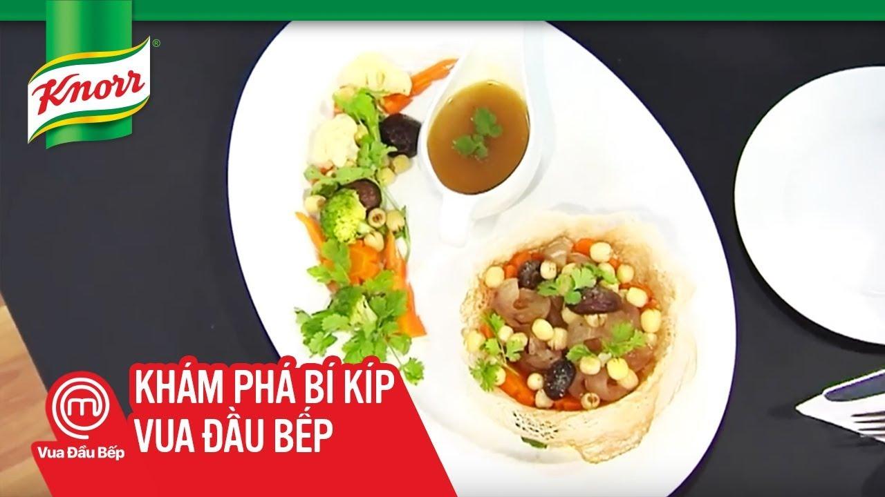 Knorr & Vua Đầu bếp VN 2014 – Hải Sâm Xào Hạt Sen Nấm Đông Cô