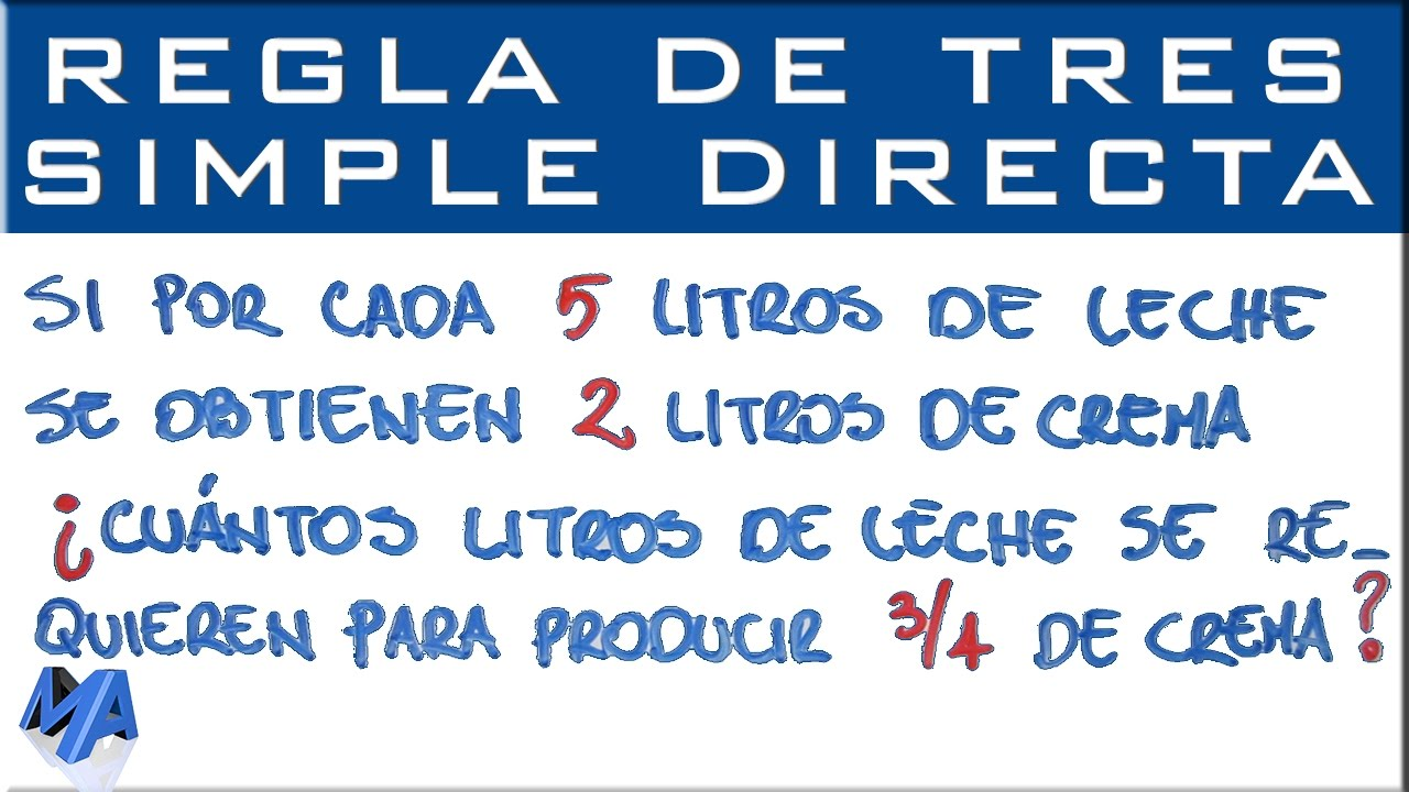 Regla De Tres Simple Directa Ejemplo 3 Youtube