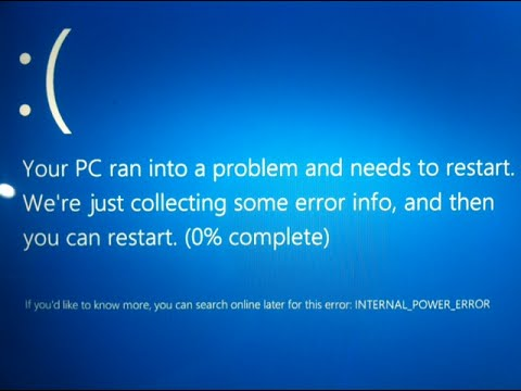 Inspiron 15 7000 7548 windows 10 internal power error fix youtube