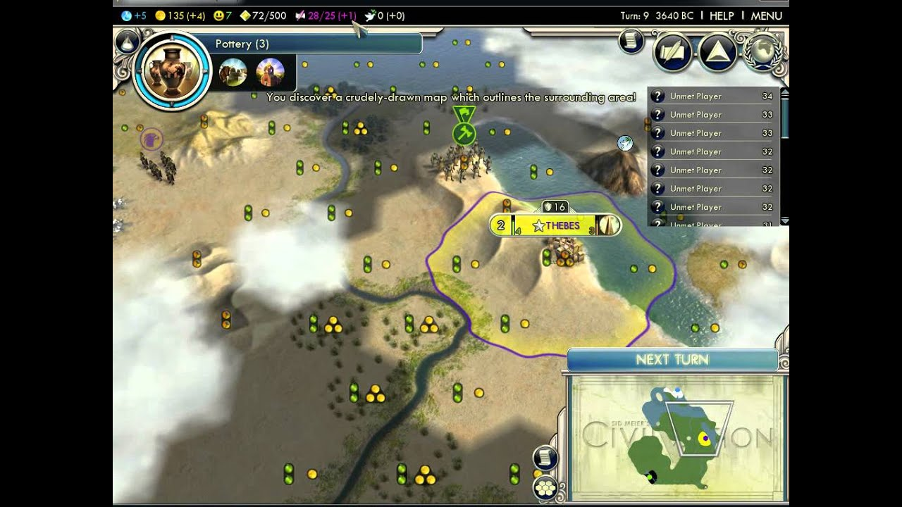 Civ5 africa map on
