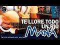 Cómo tocar Te Lloré Todo un Rio de Maná en Guitarra Acústica (HD) Tutorial - Christianvib