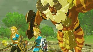 Zelda Breath of the Wild - Link & Zelda Vs Gold Lynel (Companion Mod)