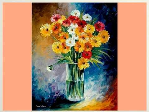 Quadri di leonid afremov youtube for Immagini di quadri con fiori