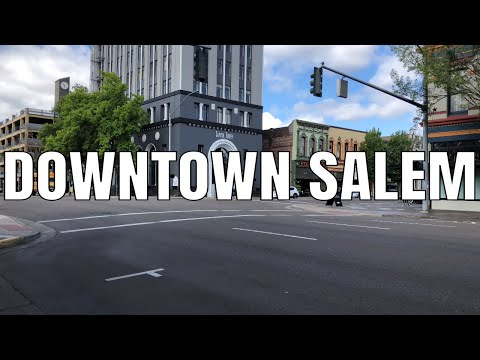 Downtown Salem, Oregon 2019 | 4K 60ᶠᵖˢ | Virtual Walking Tour | City