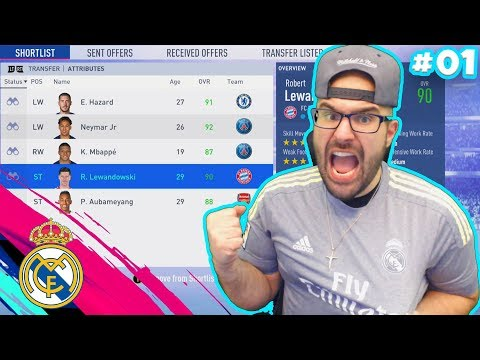 SIGNING A NEW INSANE SUPERSTAR! FIFA 19 Real Madrid Career Mode #01