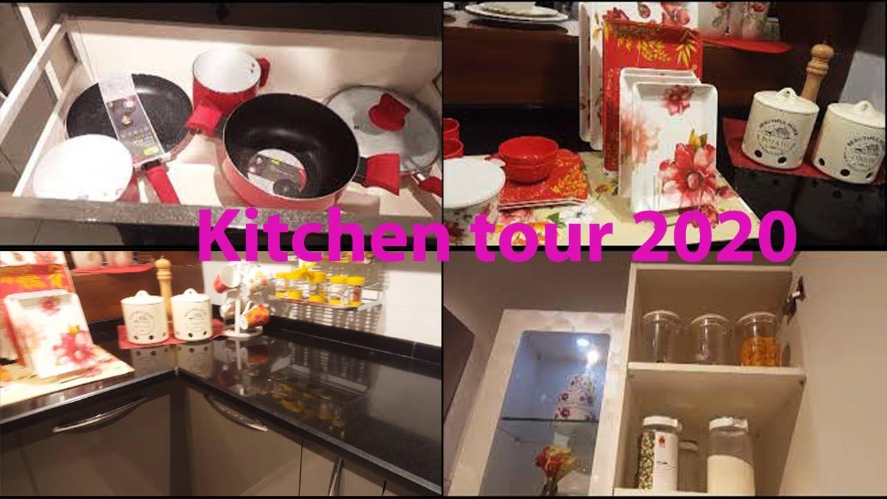 kitchen tour video | vlog kitchen tour and tips tricks ...