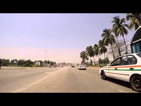 Côte d'Ivoire Yamoussoukro filmée en Gopro / Ivory Coast Yamoussoukro, Gopro