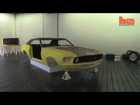 Ford Mustang Made Entirely Of Paper