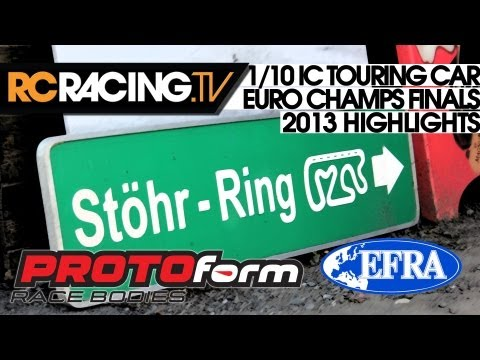 EFRA 1/10th IC Touring Car Euros 2013 - The Final in HD!