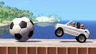 Obstacle Madness #1 - BeamNG Drive Crashes