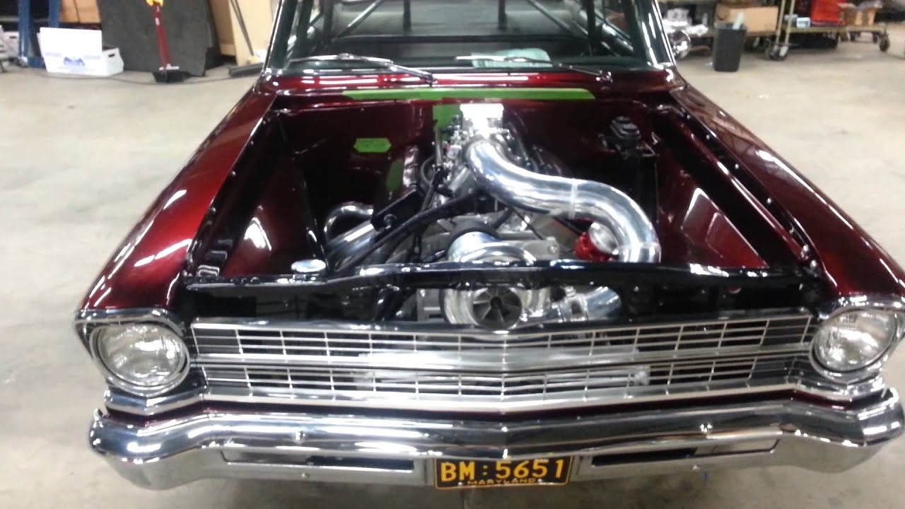 1967 Chevy Ii Procharger F2 Bbc Rev Youtube
