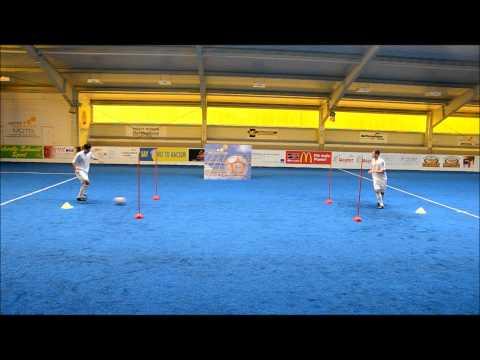 First Touch like Xavi and Iniesta (FC Barcelona TIKITAKA Drill)