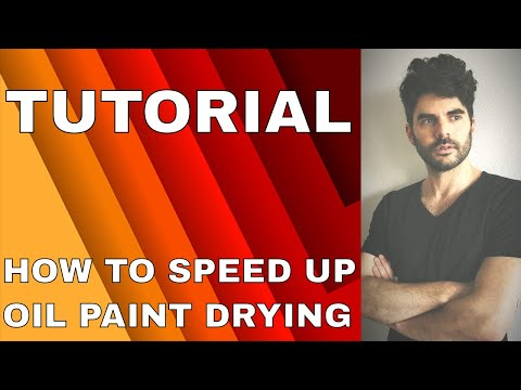 How to speed up the drying time of oil paint 🎨⏳🚀