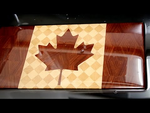 Making Canadian Flag End Grain Cutting Board