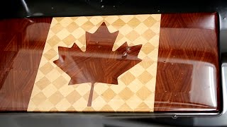 "Making ""canadian Flag"" End Grain Cutting Board"