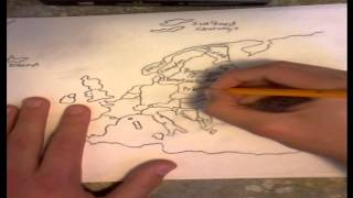 Drawing the map of Europe from memory!
