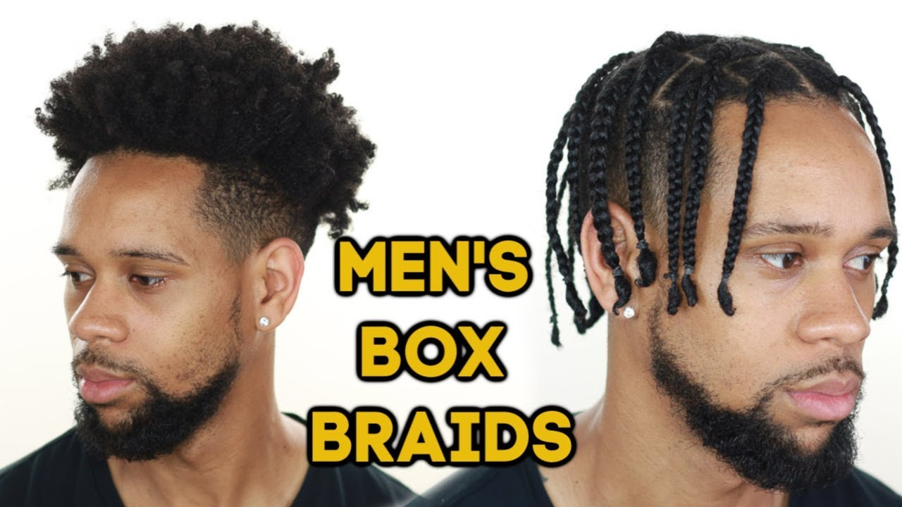 How To Men S Box Braids On Type 4 Natural Hair Youtube